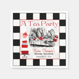 Mad Hatter Tea Party Bridal Shower Napkins
