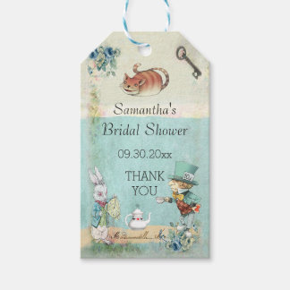 Mad Hatter Tea Party Bridal Shower Thank You Gift Tags