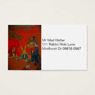 Mad Hatter Tea Party Business Card