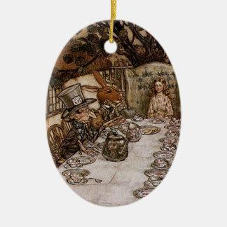 Mad Hatter Tea Party by Arthur Rackham Ornament