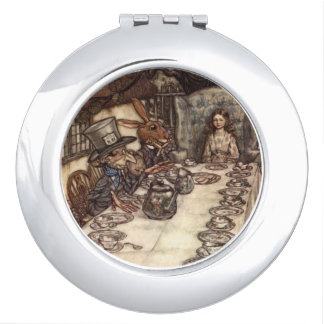 Mad Hatter Tea Party by Rackham Compact Vanity Mirror