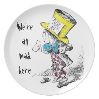 Mad Hatter Tea Party Gift Plate