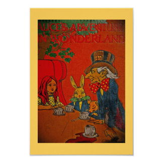 "Mad Hatter Tea Party 3.5"" X 5"" Invitation Card"