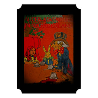 "Mad Hatter Tea Party 5"" X 7"" Invitation Card"