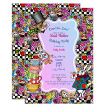 Mad Hatter Tea Party Invitations Zazzle