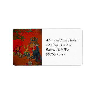 Mad Hatter Tea Party Personalized Address Labels