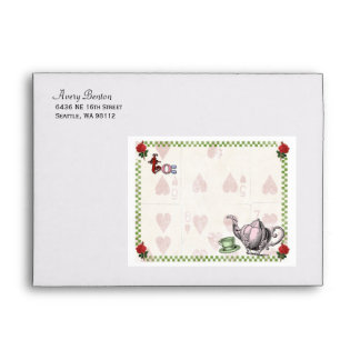 Mad Hatter Tea Party Personalized Envelope