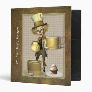"Mad Hatter Tea Party Recipe Binder 1"""