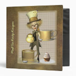 Mad Hatter Tea Party Recipe Binder 1.5""