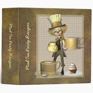 "Mad Hatter Tea Party Recipe Binder 2"""