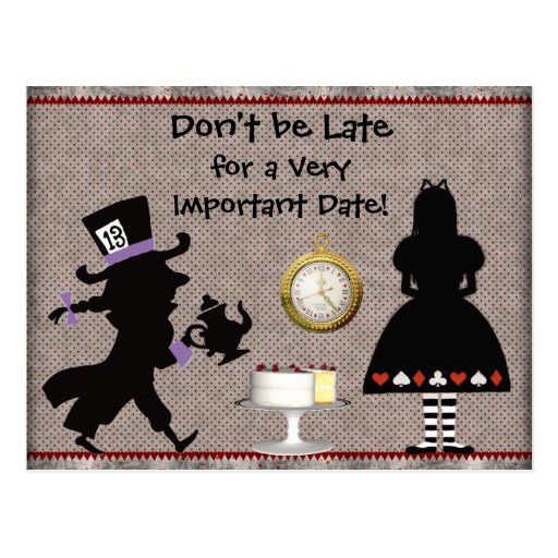 Mad hatter tea party save the date baby shower postcard zazzle
