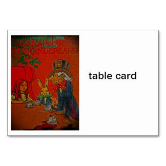 Mad Hatter Tea Party Table Cards