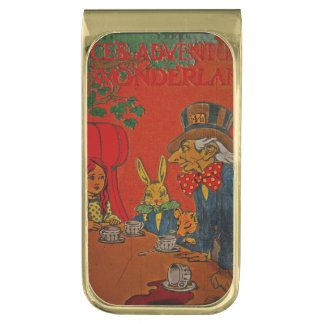 Mad Hatter Tea Party Gold Finish Money Clip