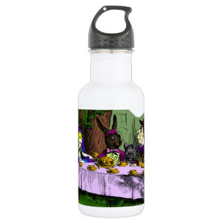Mad Hatter Tea Party with Alice Stainless Steel Water Bottle