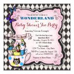 Mad Hatter Tea Party Wonderland Baby Shower Card