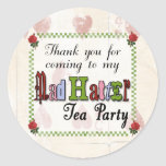 Mad Hatter Thank You Sticker