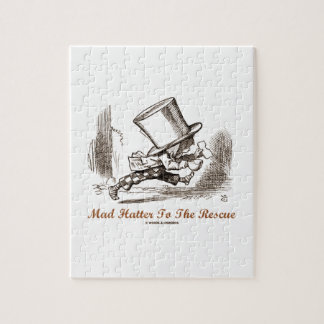 Mad Hatter To The Rescue Wonderland Sentiment Jigsaw Puzzle