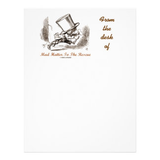 Mad Hatter To The Rescue Wonderland Sentiment Letterhead