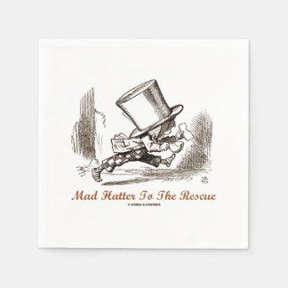 Mad Hatter To The Rescue Wonderland Sentiment Paper Napkin
