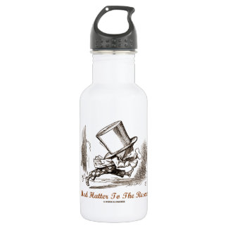 Mad Hatter To The Rescue Wonderland Sentiment Stainless Steel Water Bottle