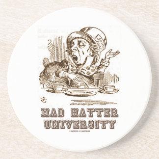 Mad Hatter University (Wonderland Mad Hatter) Drink Coaster