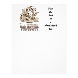 Mad Hatter University (Wonderland Mad Hatter) Letterhead