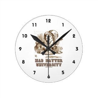 Mad Hatter University (Wonderland Mad Hatter) Round Clock