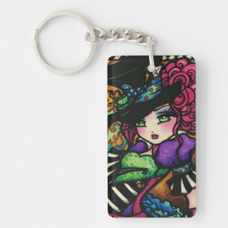Mad Hatter & White Rabbit Alice Series Hannah Lynn Keychain