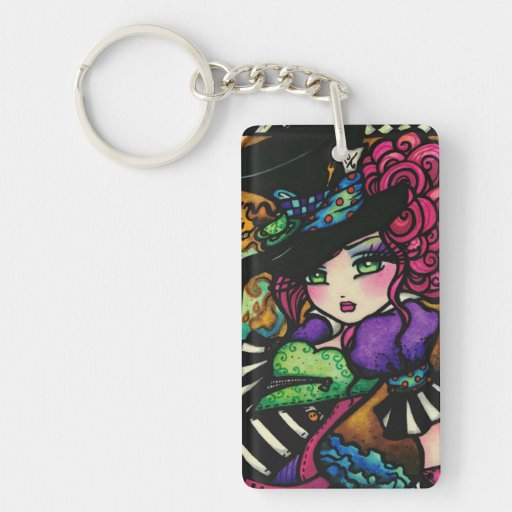 Mad Hatter & White Rabbit Alice Series Hannah Lynn Acrylic Keychains