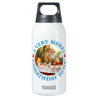 Mad Hatter Wishes Alice a Very Merry Unbirthday 10 Oz Insulated SIGG Thermos Water Bottle