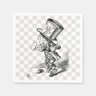 Mad Hatter with Biscuit and Tea Napkin