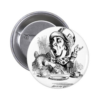 Mad Hatter with Dormouse Button