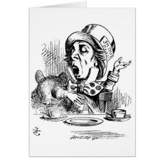 Mad Hatter with Dormouse Card