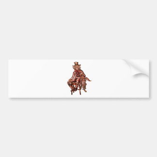 Mad Hatter with March Hare Drawing Bumper Sticker