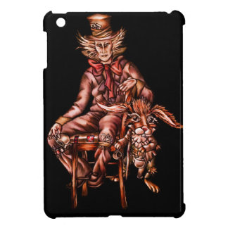 Mad Hatter with March Hare Drawing iPad Mini Cases