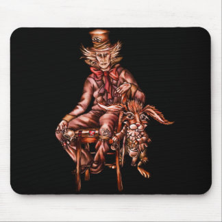 Mad Hatter with March Hare Mouse Pad