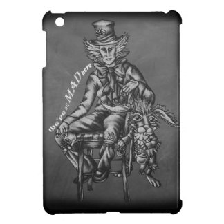 Mad Hatter with March Hare Wonderland Chalk Art iPad Mini Cover