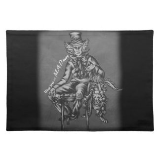 Mad Hatter with March Hare Wonderland Chalk Art Placemat