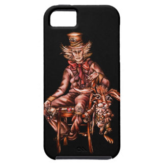Mad Hatter with March Hare Wonderland Drawing iPhone SE/5/5s Case