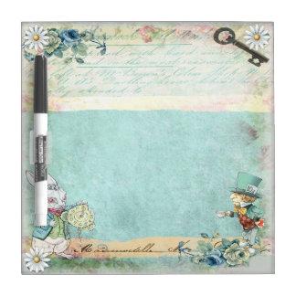 Mad Hatter Wonderland Dry Erase Board