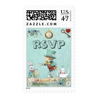 Mad Hatter Wonderland RSVP Postage