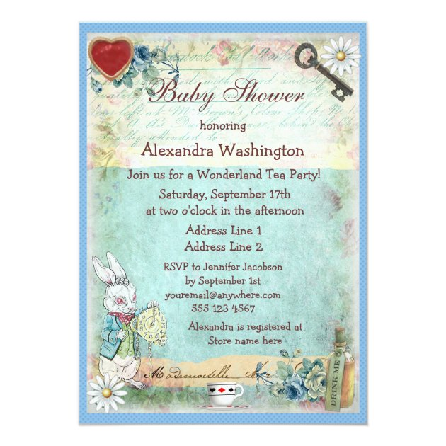 Mad Hatter Tea Party Bridal Shower Alice in Wonderland