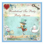 Mad Hatter Wonderland Tea Party Baby Shower Custom Announcements