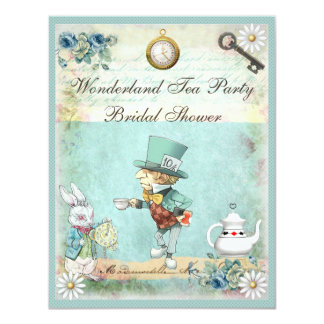 Mad Hatter Wonderland Tea Party Bridal Shower Card