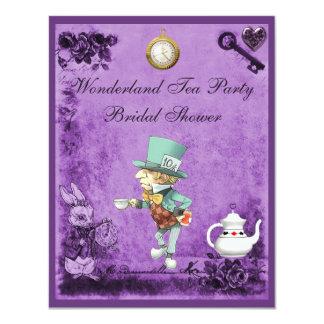Mad Hatter Wonderland Tea Party Bridal Shower Card