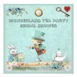 Mad Hatter Wonderland Tea Party Bridal Shower Invitations