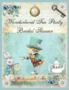 Mad hatter invitations zazzle mad hatter wonderland tea party bridal shower invitation filmwisefo