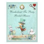 Mad Hatter Wonderland Tea Party Bridal Shower Custom Invitation