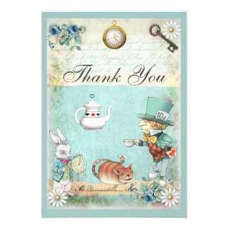 Mad Hatter Wonderland Tea Party Thank You Invites