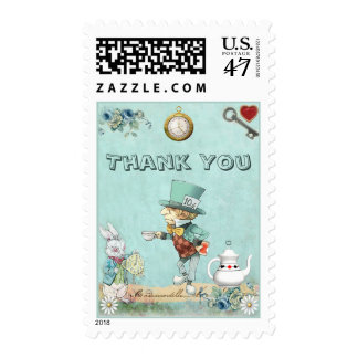 Mad Hatter Wonderland Thank You Postage